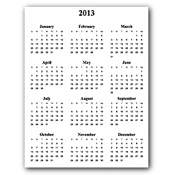 Free Printable And Customizeable Calendars Year On A Page Day On A Page Month On A Page And Week Days Print Calendar Calendar Free Online Calendar