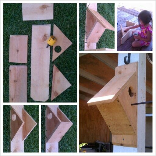 Bird house one piece of dog ear picket fence board from your local Home Depot Lowes for about $2 55 each measuring 5 8 in x 5 1 2 in x 6 ft