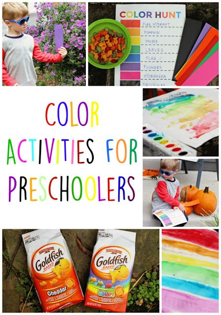 Color Activities for Preschoolers - free downloadable Color Hunt printable