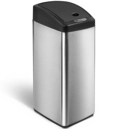 Harper Designs 13-Gallon Touchless Sensor Kitchen Trash Can ...