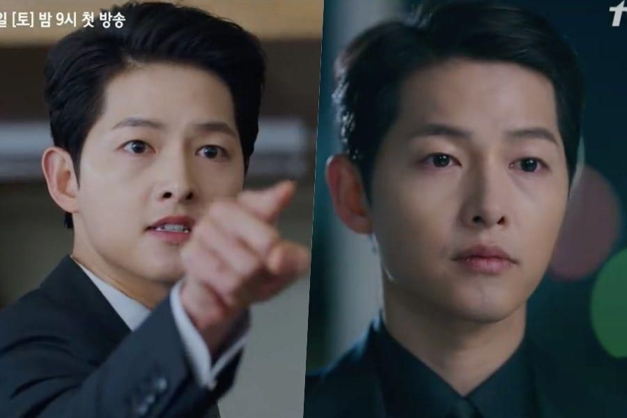 "Watch: Song Joong Ki Vows Revenge And Strikes Fear Into People's Hearts In Action-Packed Preview For ""Vincenzo"""