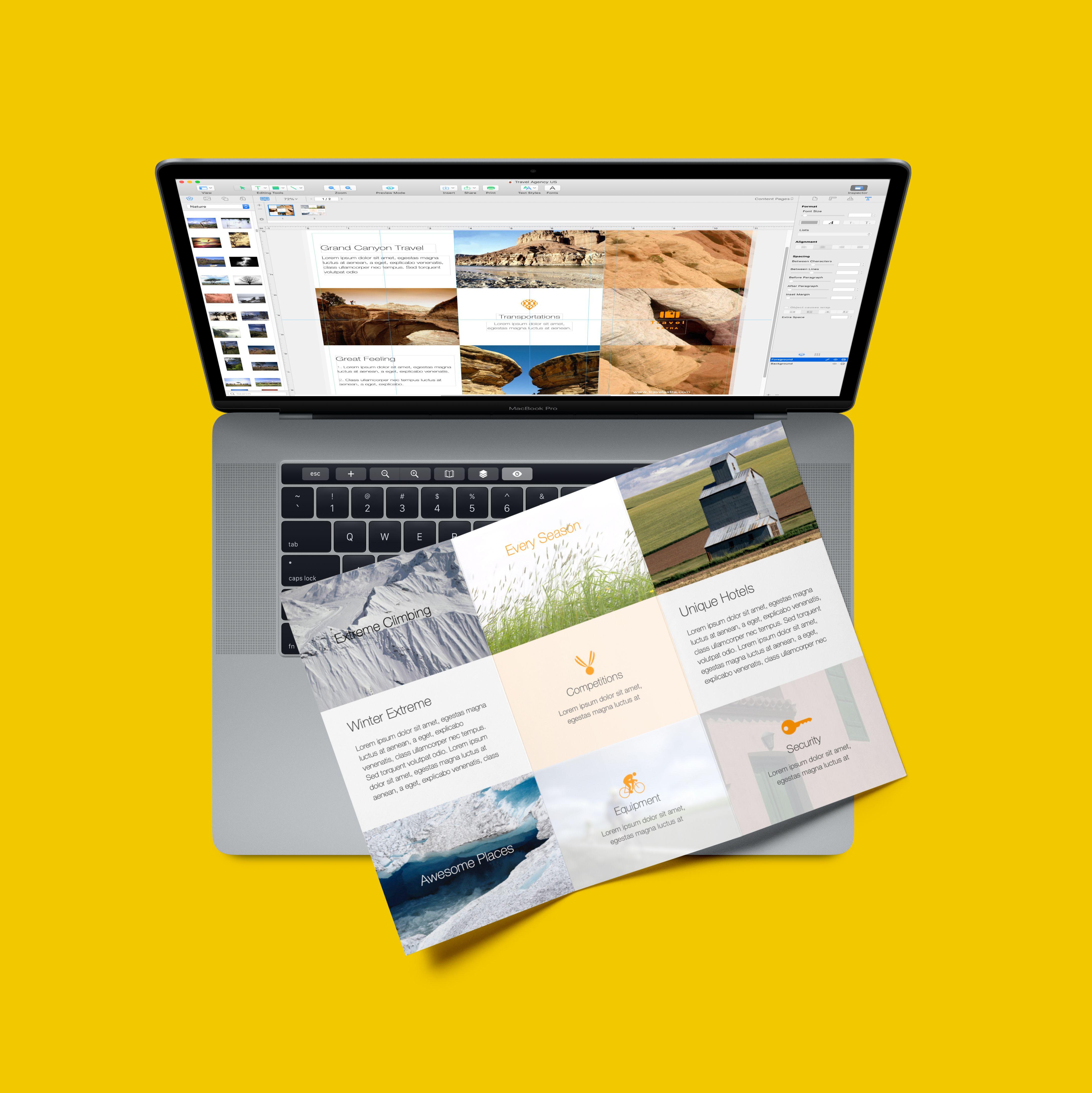 3 Fold Brochure On Mac Desktop Publishing Page Layout Create Flyers