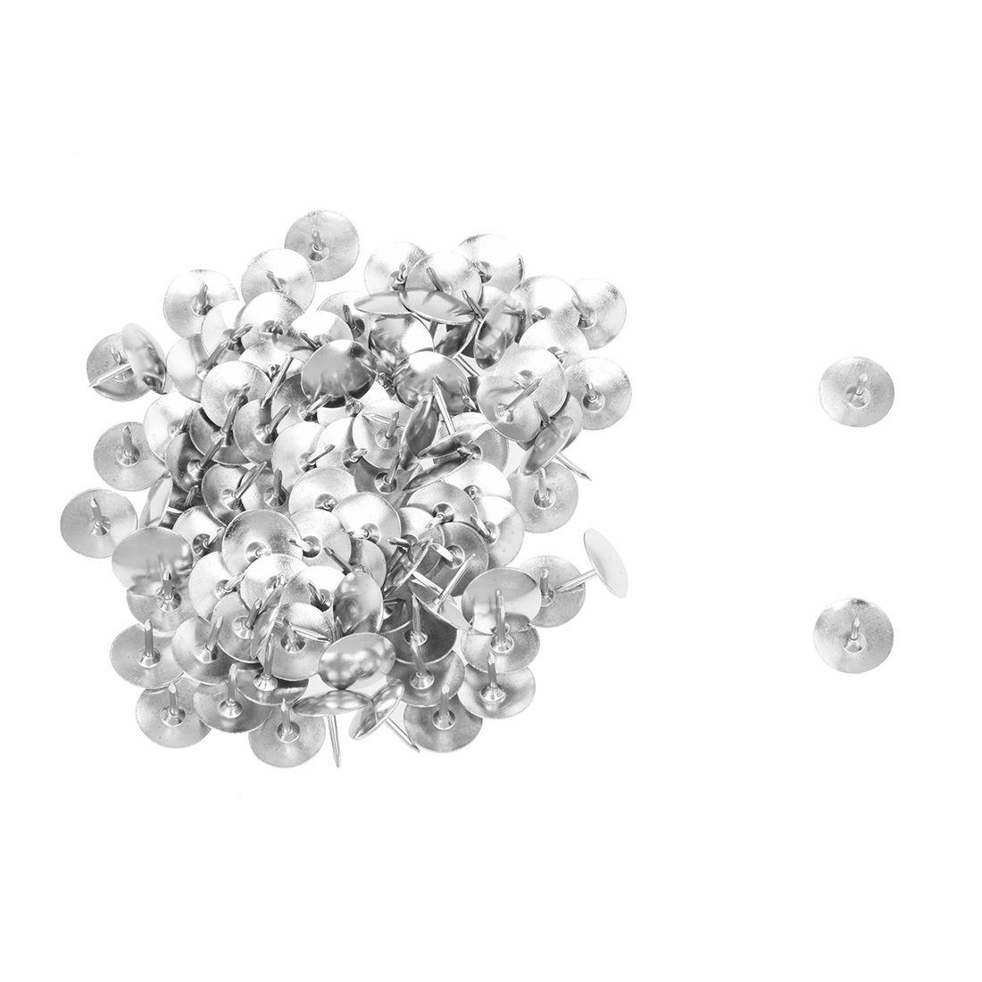 100pcs silver tone corkboard photo push pins thumb tacks office
