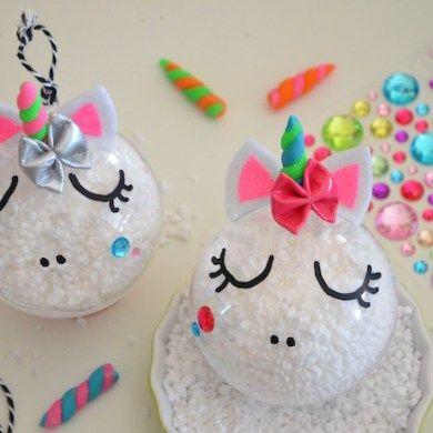 {DiY} Boule Licorne pour un Noël enchanté et féerique !! #activitemanuellenoelmaternelle