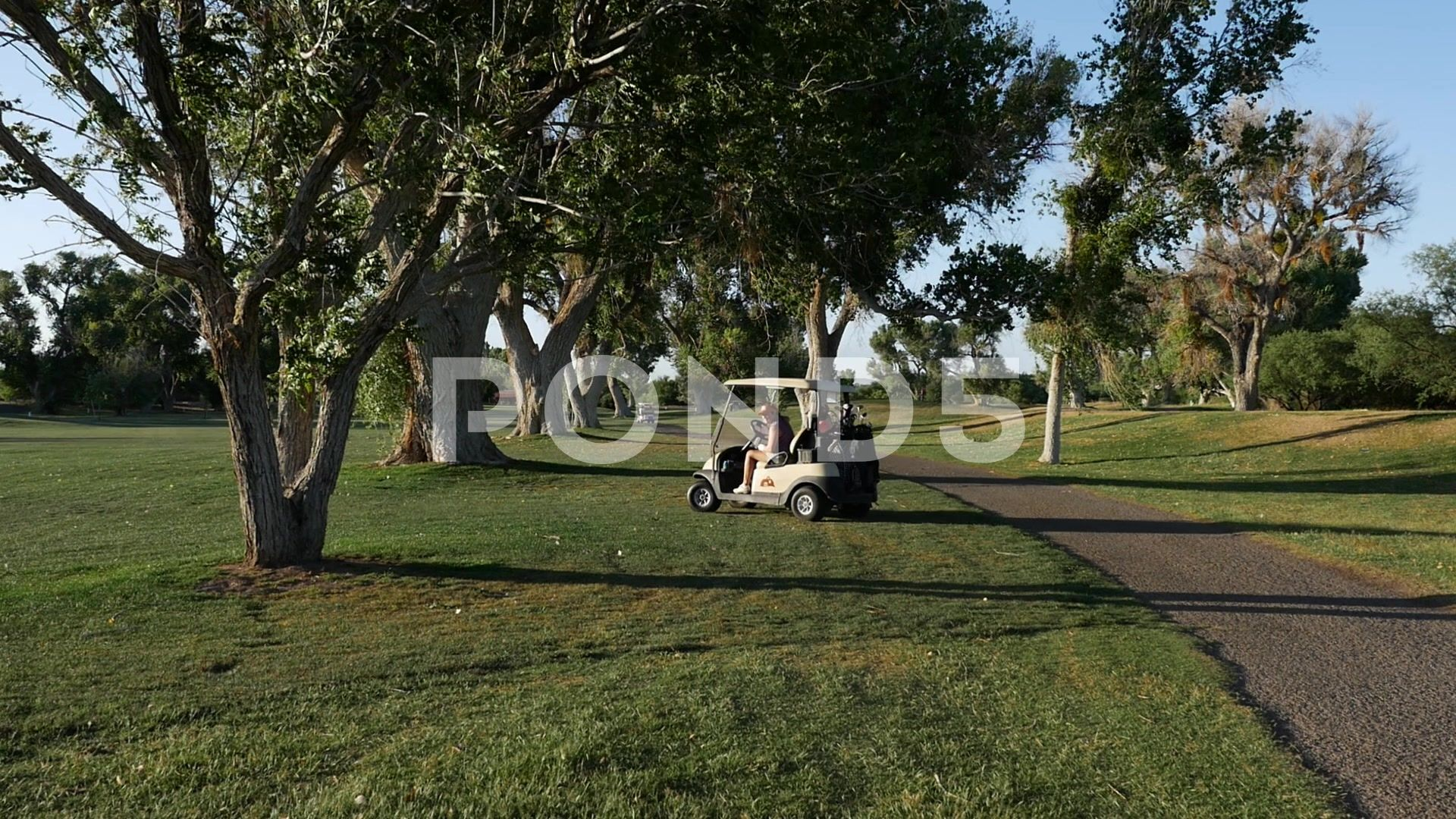 People enjoying a day out on the golf course in carts Stock Footage dayenjoyingPeoplegolf