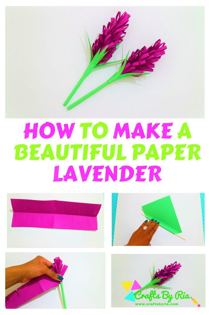 Paper Lavender How To Make Beautiful Paper Lavender Paper Crafts