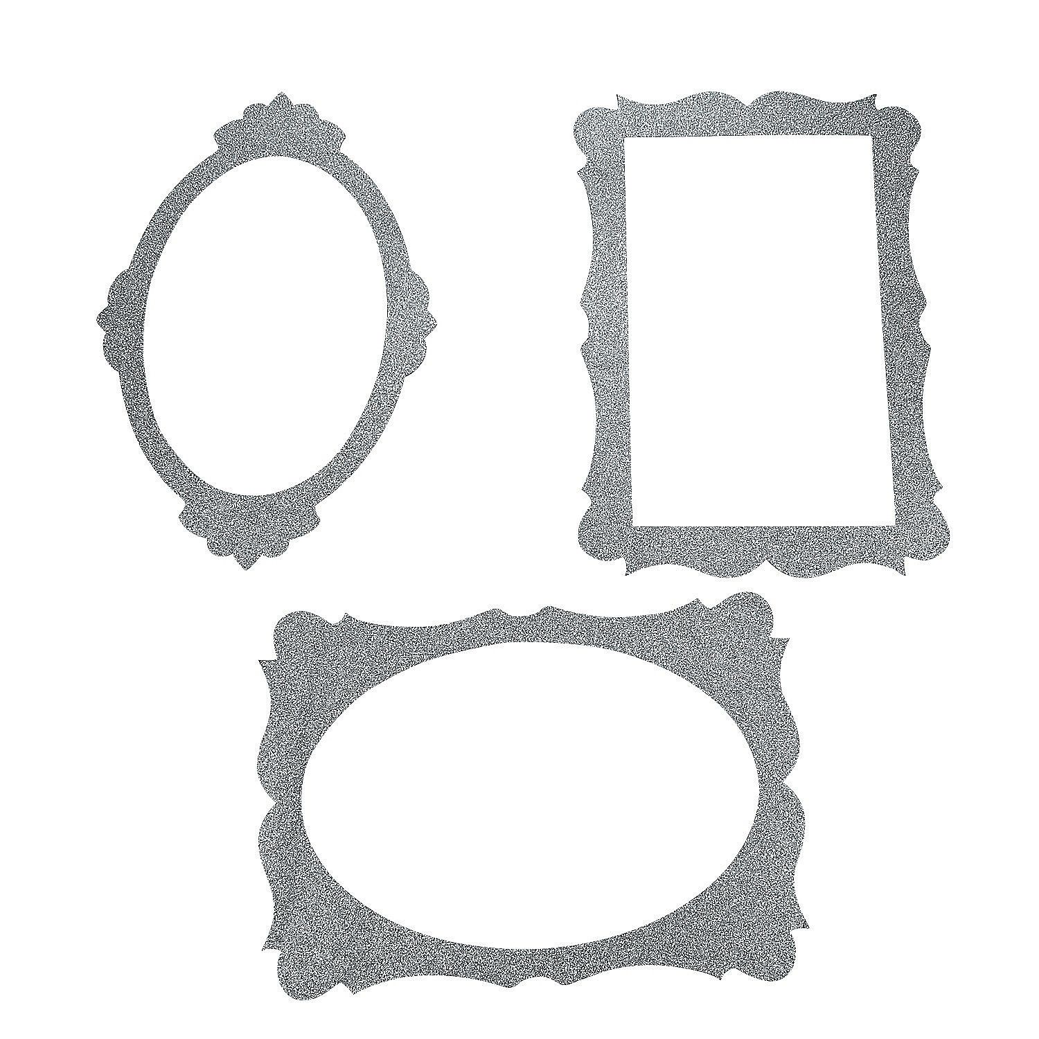 Silver Picture Frame Cutouts | Silver picture frames and Wonderland ...