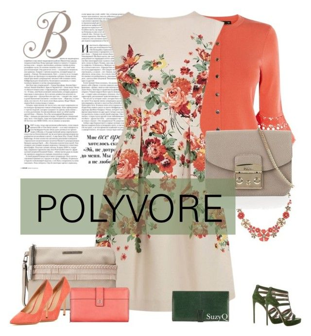 """Polyvore Chic"" by polyvore-suzyq ❤ liked on Polyvore featuring Karen Millen, Oasis, Napier, Steve Madden, Lodis, Furla, Hermès and Pour La Victoire"