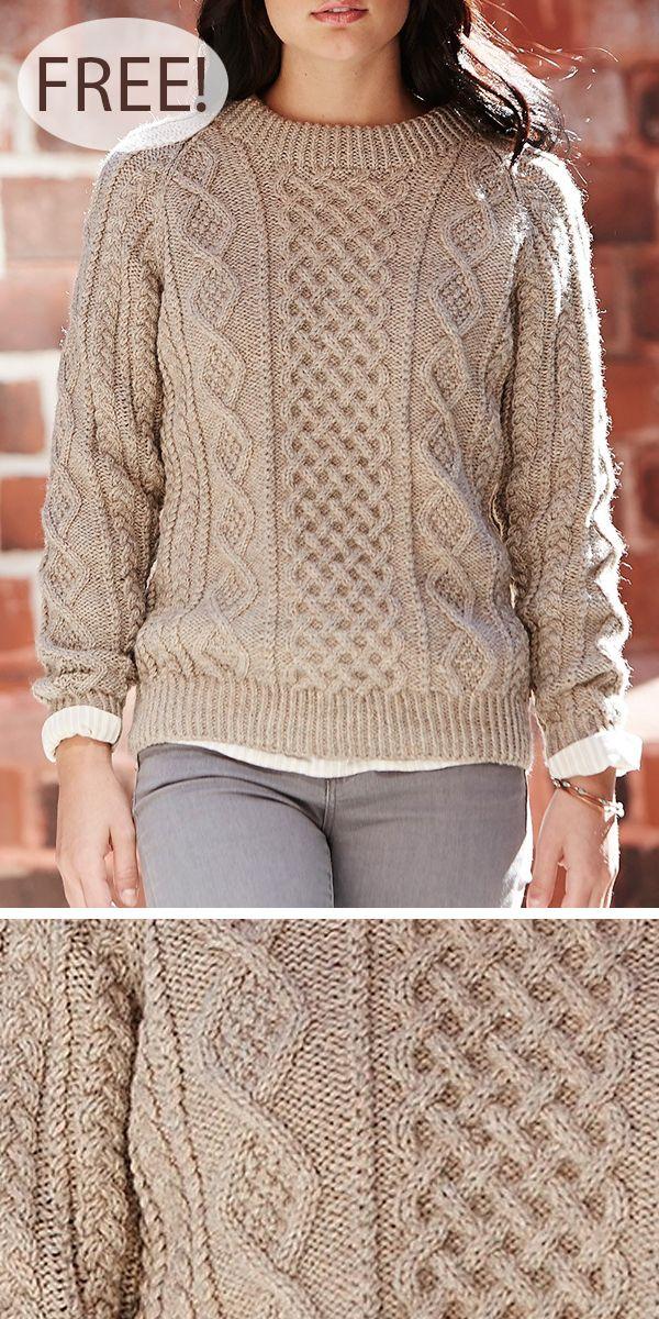 Photo of Kostenloses Strickmuster für Honeycomb Aran Sweater