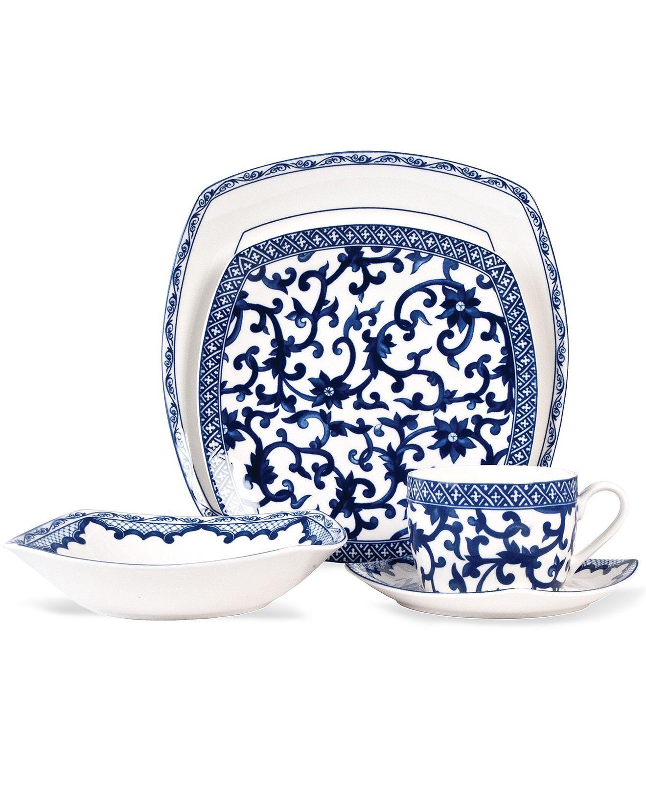 Lauren Ralph Lauren Dinnerware, Mandarin Blue Square