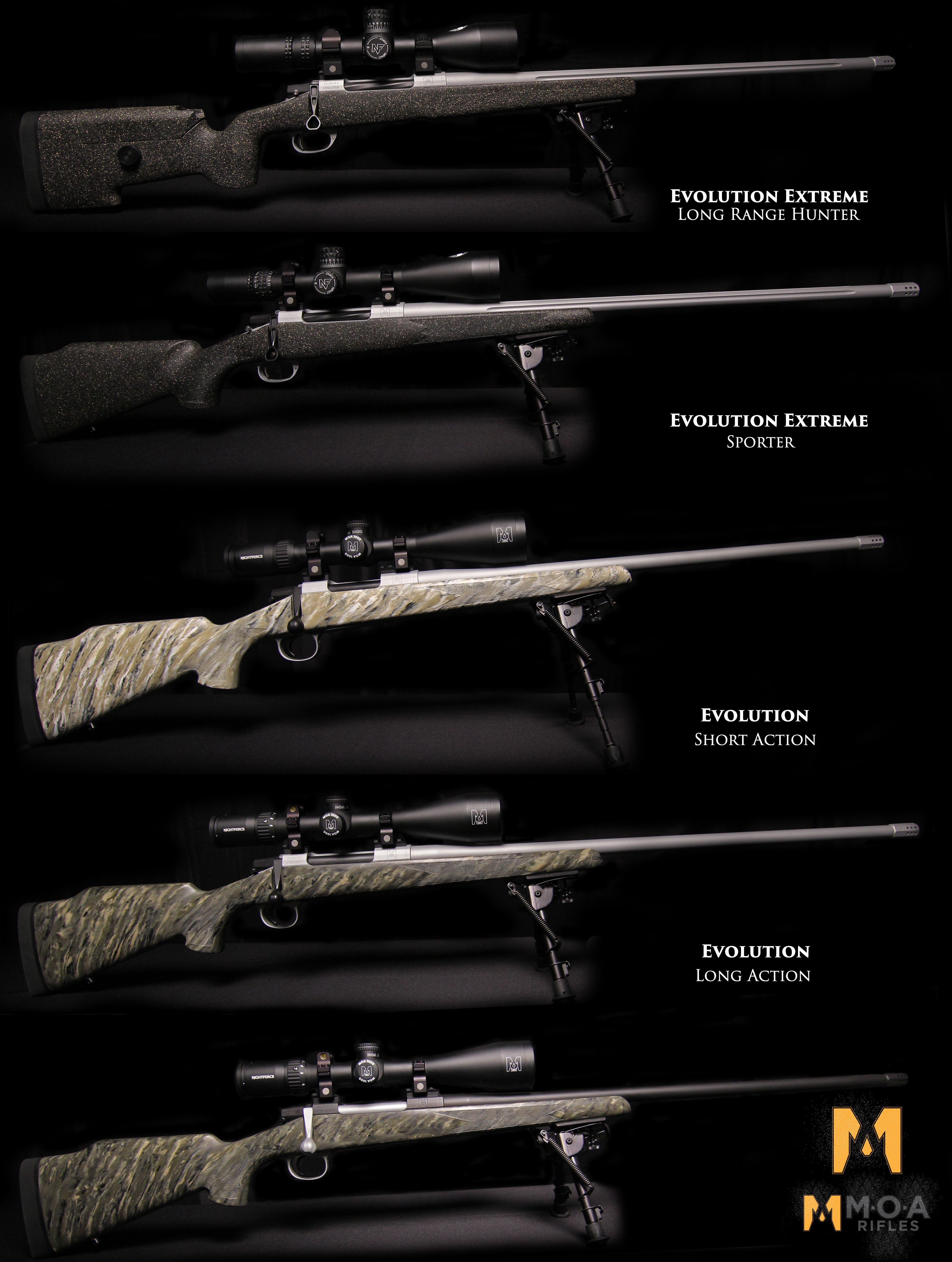 Developed by Bob Beck of Extreme Outer Limits, The Evolution™ series of MOA Rifles
