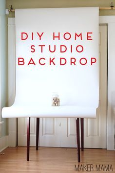 Maker Mama Craft Blog: DIY Home Studio Backdrop