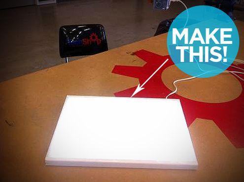 Ikea Hack How To Make A Diy Lightbox For Tracing On The Cheap Light Box Diy Light Box For Tracing Led Lighting Diy