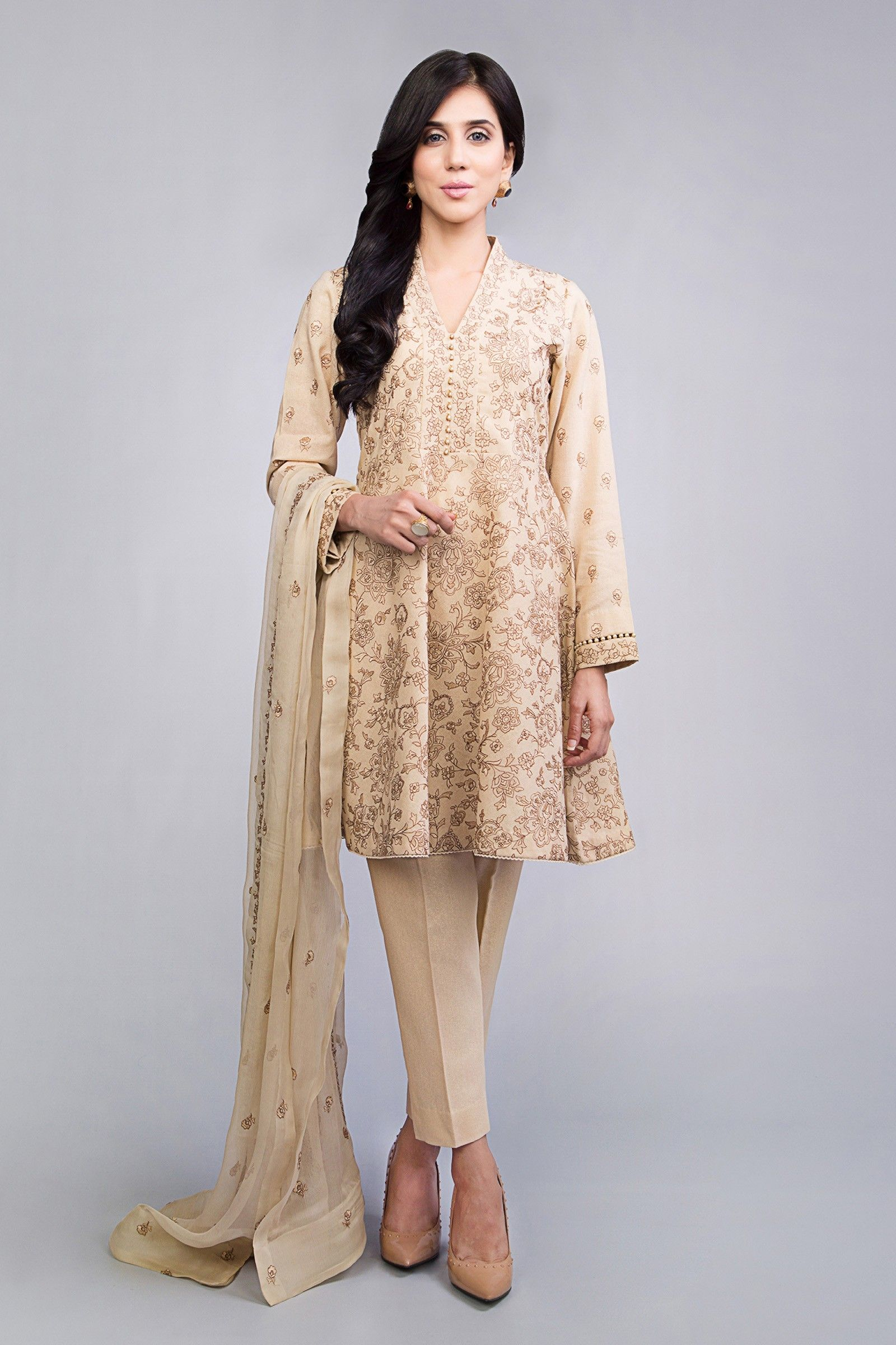 19365129a7 Stylish Ready to wear cream printed 3 piece suit by Bareeze winter  collection 2019#springcollection #spring #readytowear #pretwear #unstitched  #online ...