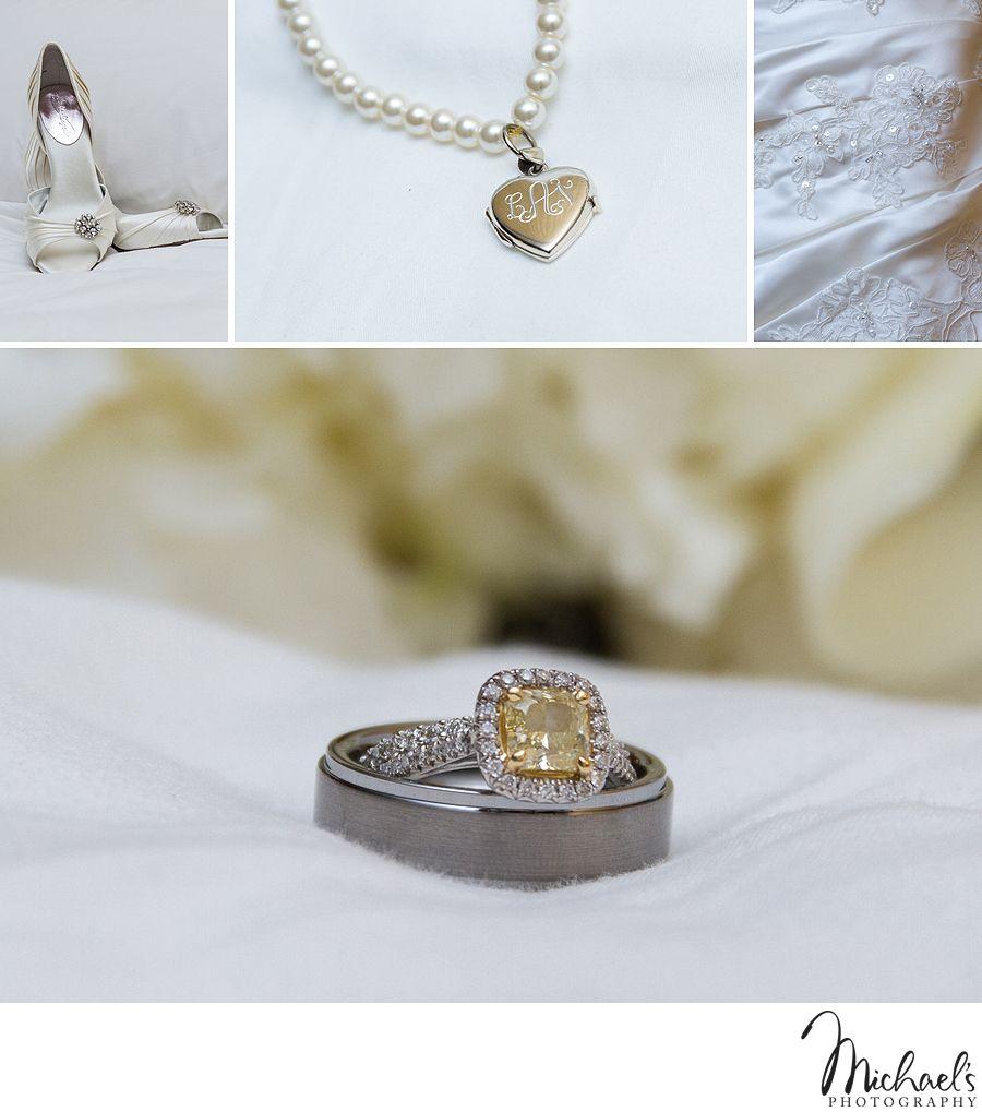 Shoes - Monogram Bracelet - Dress Detail - Engagement Ring - Wedding Bands Gorgeous details!
