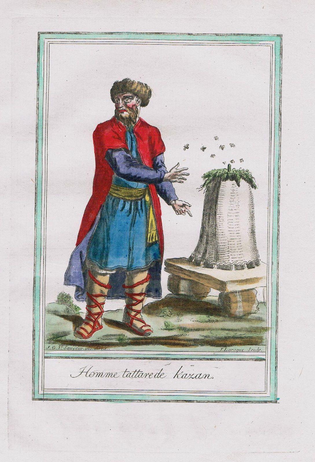 1780 Kazan Tatarstan Russia Tatars Tartary Costume