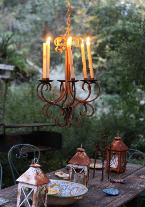 Candle Light In The Garden...very Romantic!
