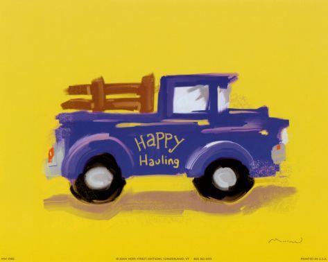 Happy Hauling Print by Anthony Morrow at Art.com