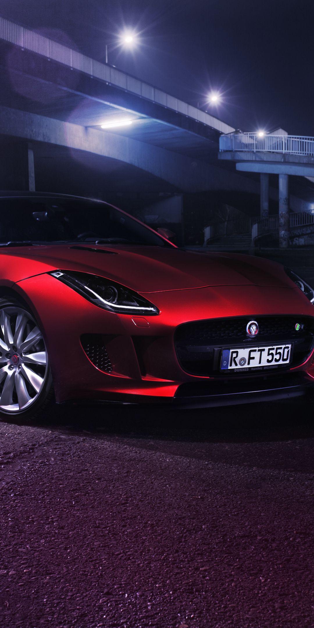 2019 Jaguar F Type R Red Car 1080x2160 Wallpaper Jaguar F Type Jaguar Car