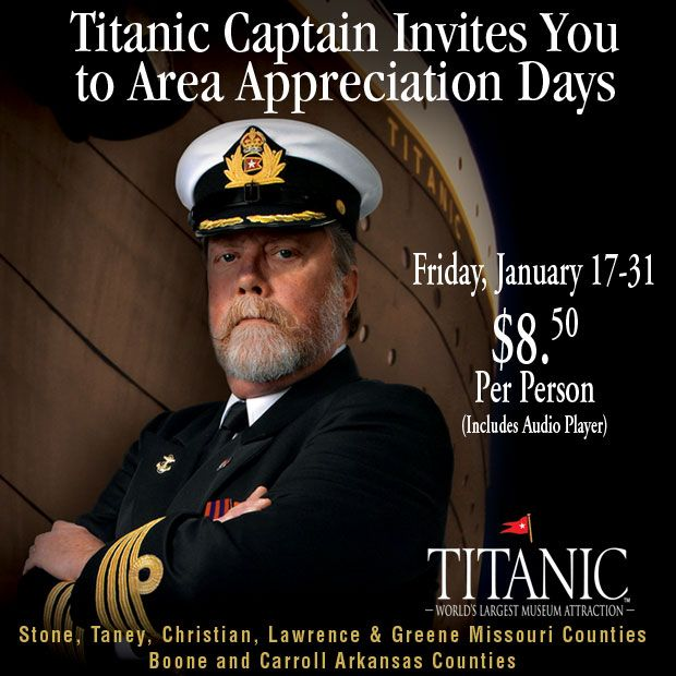Titanic offering GREAT deals for local residents!! Still good through this weekend!!