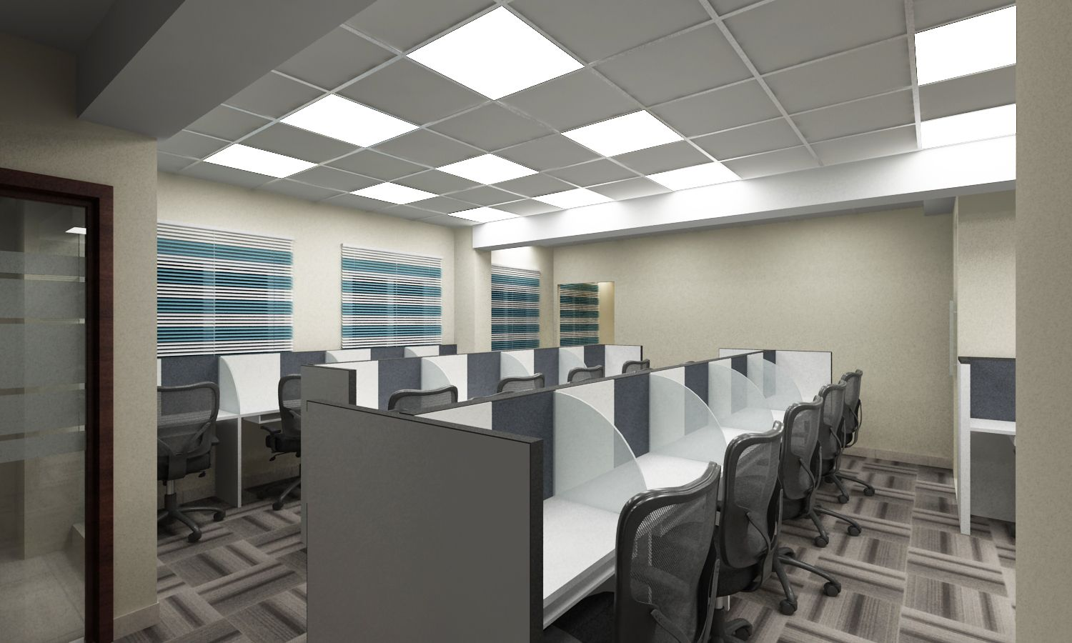 #interiorDesign Have a Look At Kal Informatics Office Elevation at Vijayawada, India If You Need Any Related Services 📞 +91-040-64544555, +91-9963803333 📧 Email: info@wallsasia.com