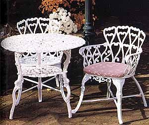 Amazing Garden And Patio Furniture, Cast Aluminum Patio Garden Furniture Heart  Bistro Set These Are Classic Part 22