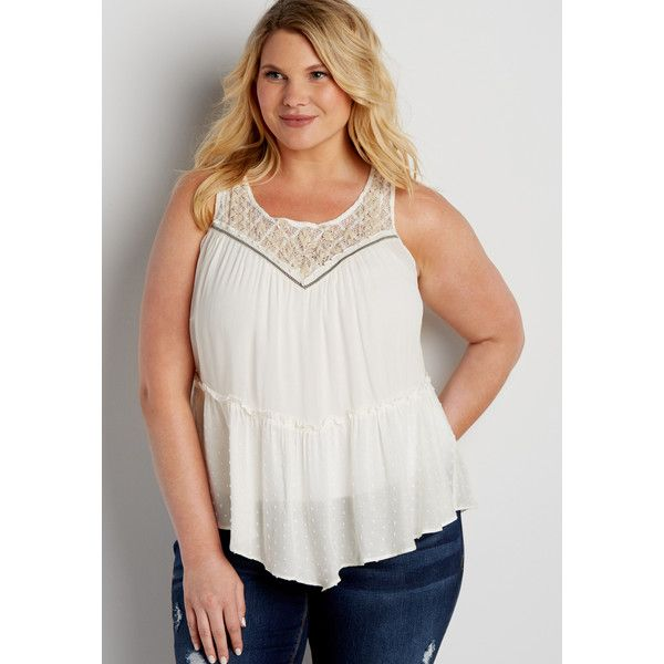 29da2821cd2 maurices Plus Size - Tiered Tank With Keyhole Back