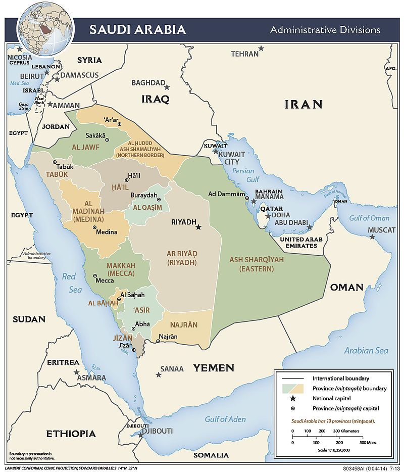 Saudi Arabia Political Map Every Country Has A Story S Z Saudi
