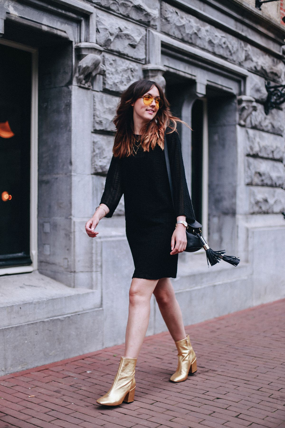 How To Create The Perfect Nye Outfit With Items You Already Own Pretty Dresses Casual Gold Boots Womens Casual Outfits [ 1800 x 1200 Pixel ]