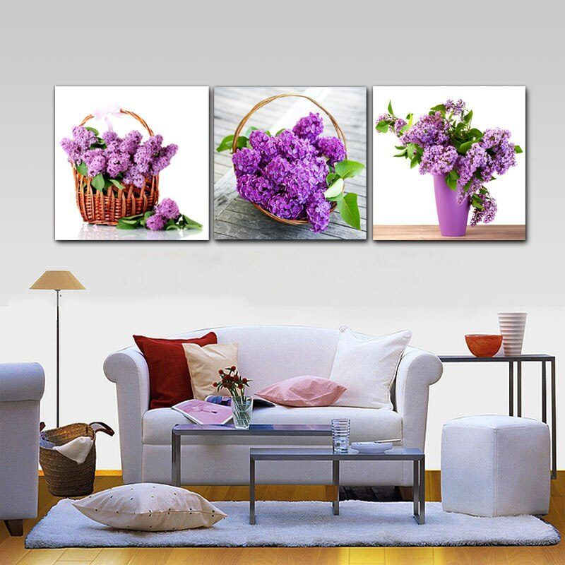 Modern Painting Canvas Kitchen Purple Flower Dining Room Wall Art Home Decor Canvas Painting Kitchen Posters And Prints M387 Dining Room Wall Art Home Decor Living Room Pictures
