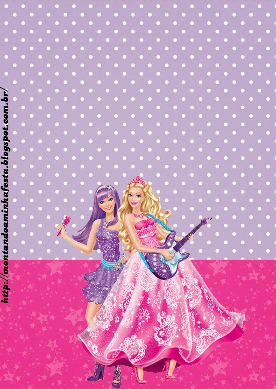 Barbie Imprimibles Y Tarjetas O Invitaciones Para Imprimir