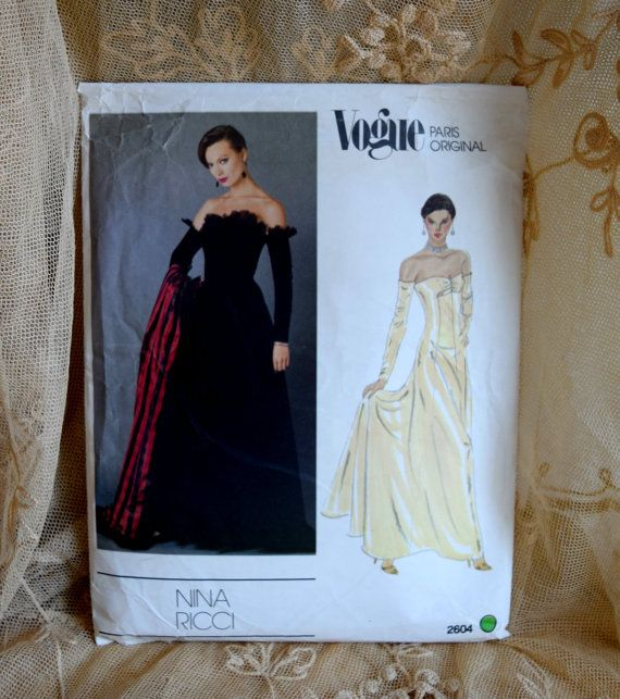 Vogue Paris Original Nina Ricci 2604 Pattern by FranciesFare