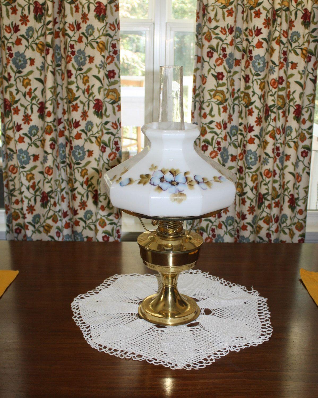 Antique Aladdin Brass Kerosene Lamp Lantern Number 23 Milk Glass Globe Mantle Hand Painted Tall Chimney Lighting Off The Grid Living by RomantiqueTouch on Etsy https://www.etsy.com/listing/248731300/antique-aladdin-brass-kerosene-lamp