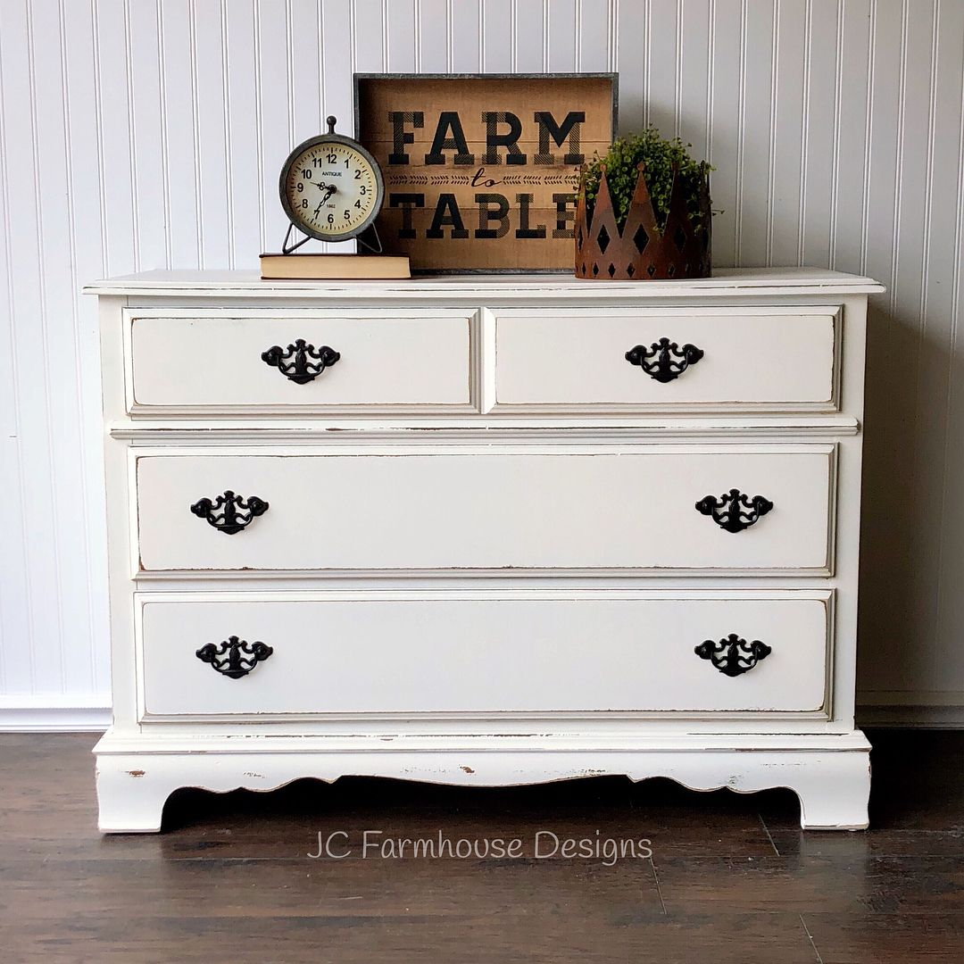 Beautiful Refinished Antique White Bassett Dresser This Pretty 3