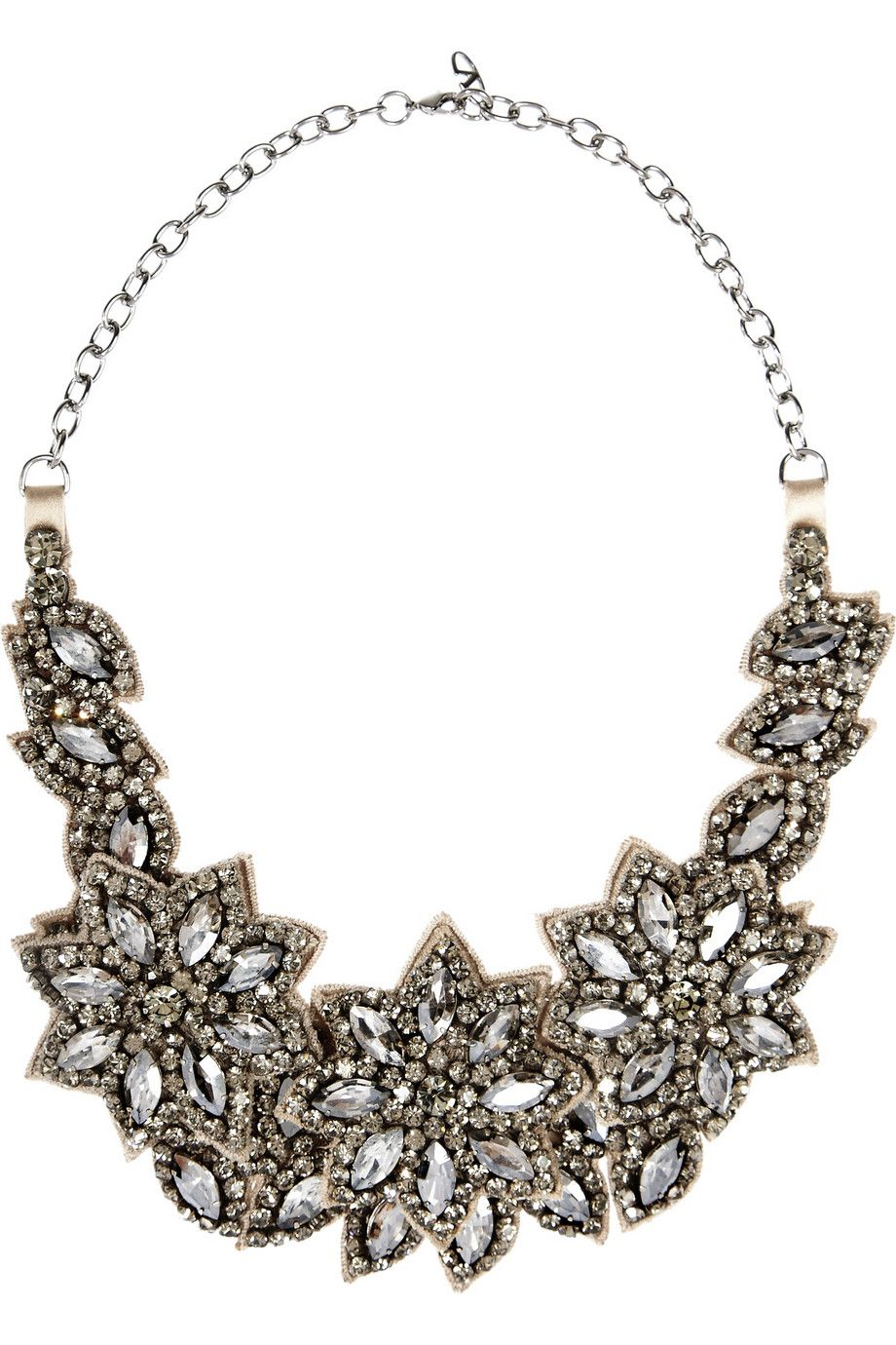 Valentino | Floral glass crystal necklace