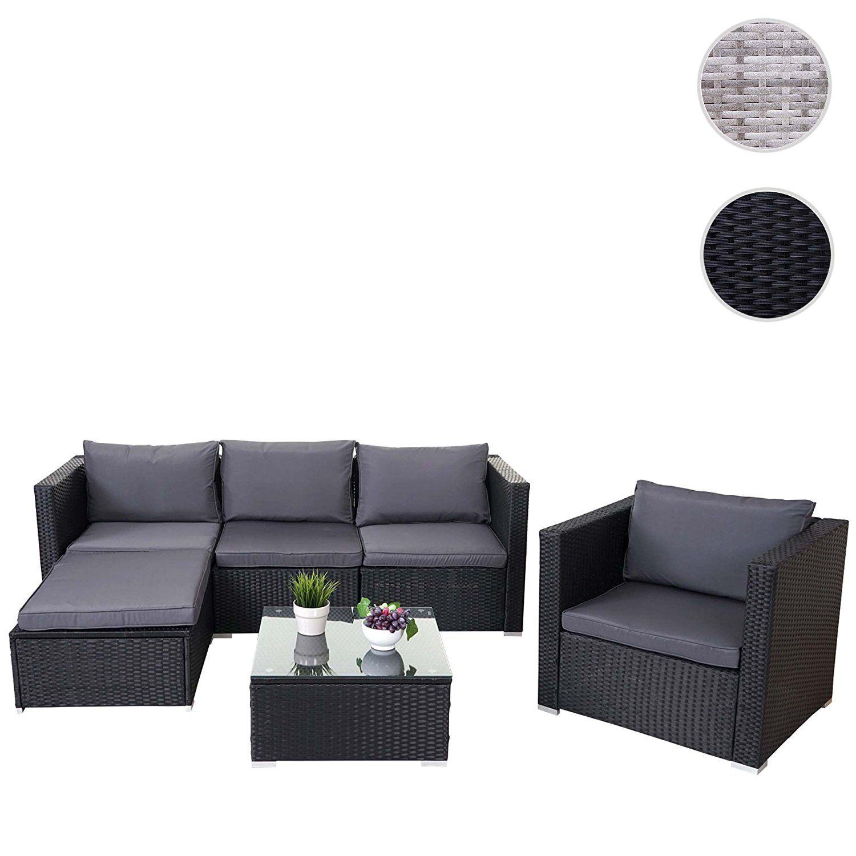 polyrattan lounge set schwarz, amazon.de: poly-rattan-garnitur brescia, gartengarnitur sitzgruppe, Design ideen