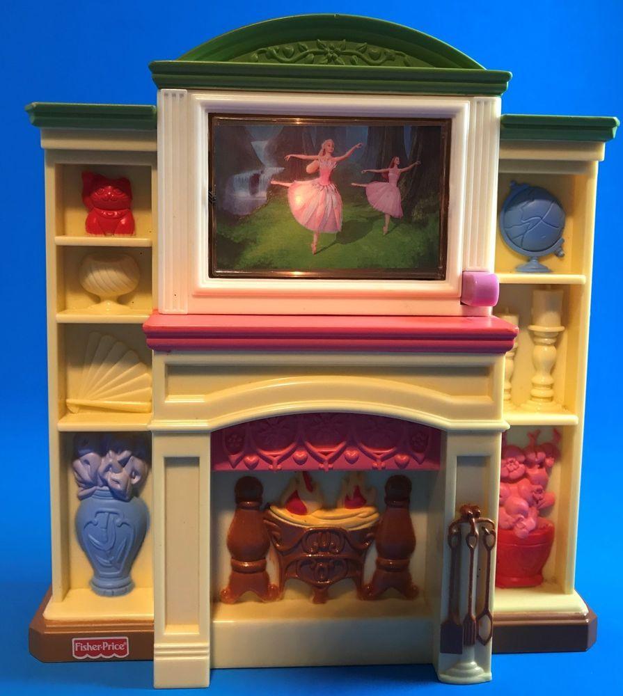 Loving Family Miniature Dollhouse Accessory Furniture Fireplace Flip