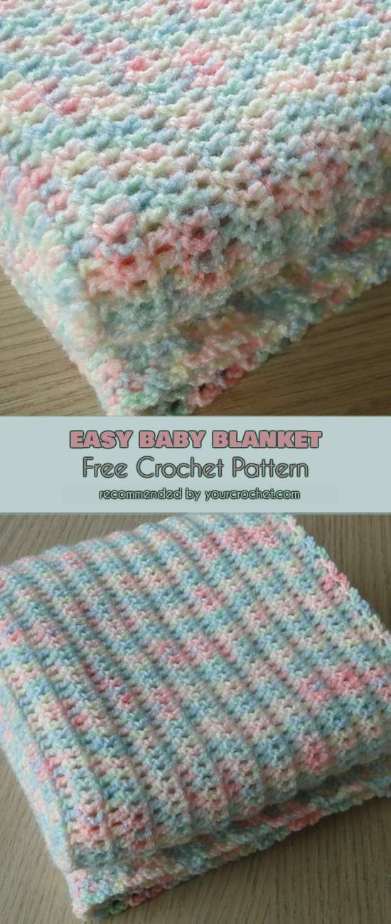 Easy Baby Blanket Free Crochet Pattern Tricot Pinterest Free