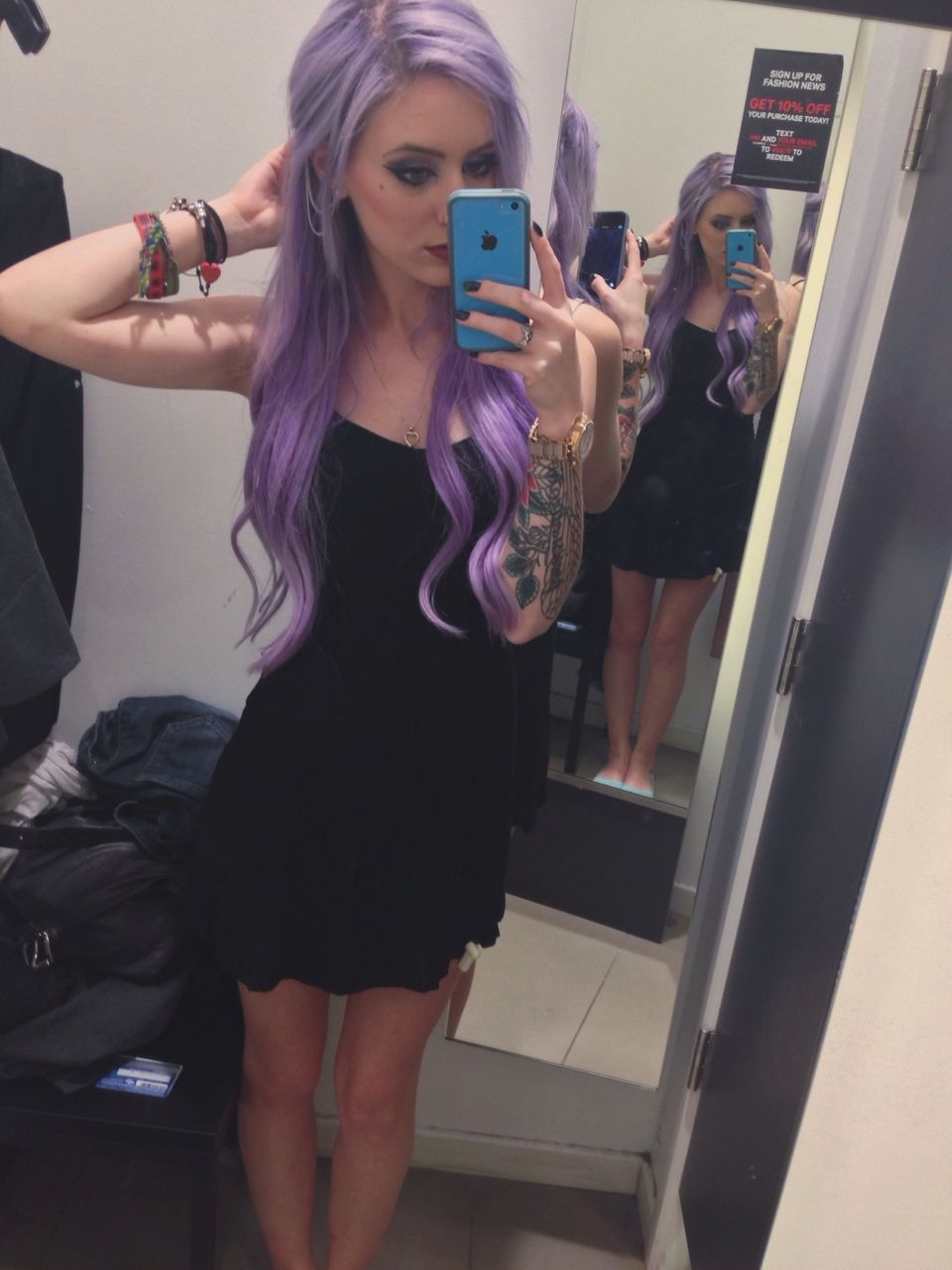 Manic Panic Ultra Violet Mixed With Conditioner Lavender Hair