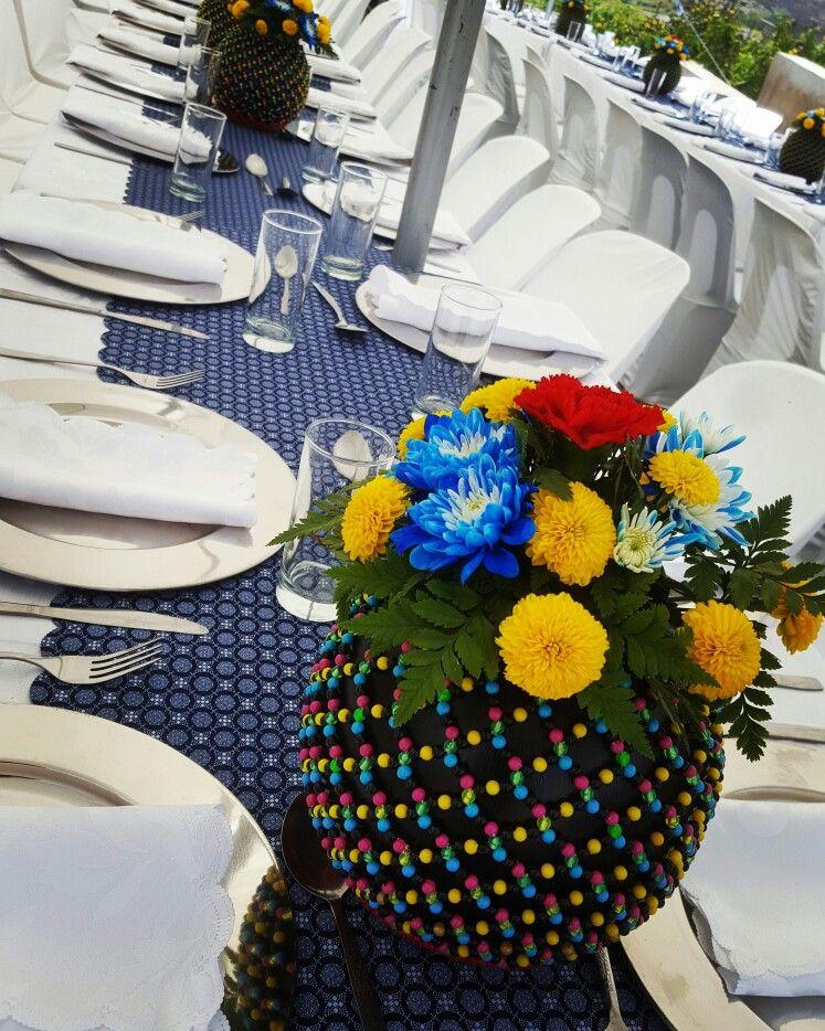 Shweshwe Table Design Traditional Ceremonies Pinterest Wedding
