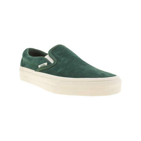 Vans Dark Green Classic Slip Scotchgard