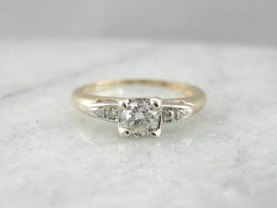 da1113f0436 Vintage Engagement Ring From The 1940's Retro Era TY4FNC-P ...