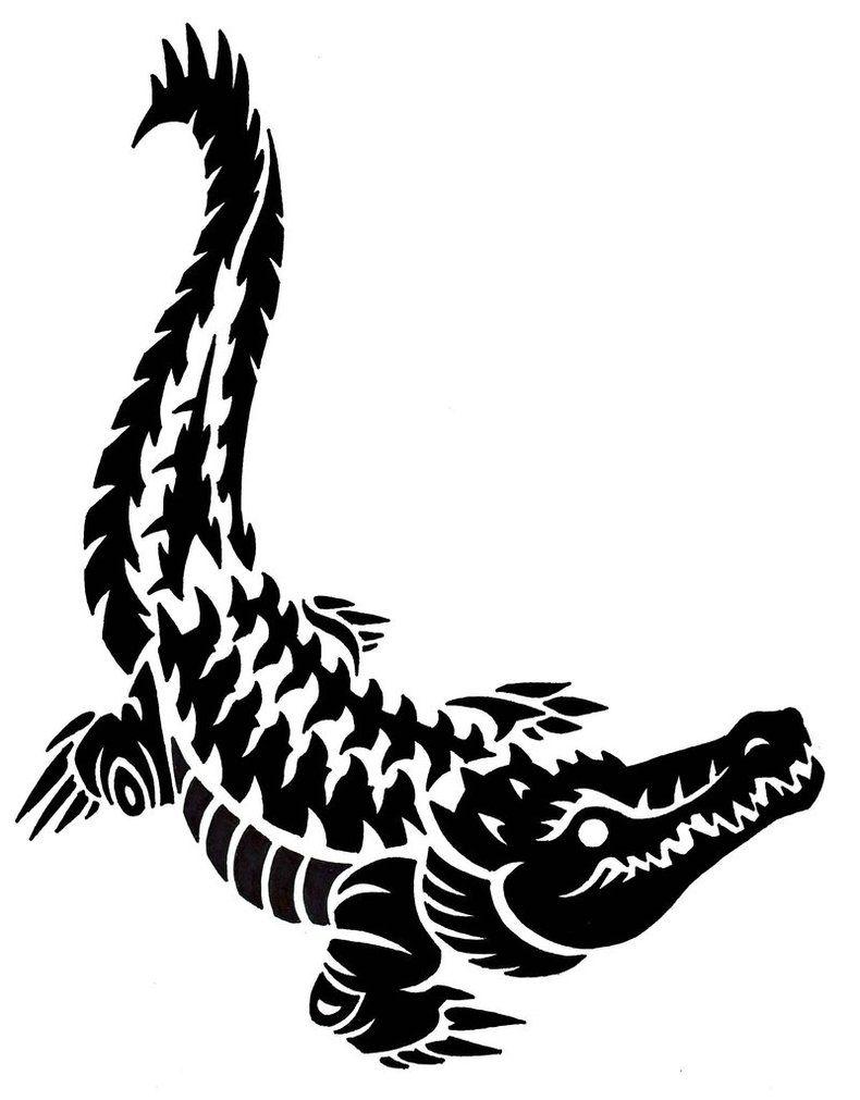 32f7259ddcb7f Crocodile by darksilvania on DeviantArt | Crocodile | Tribal animal ...