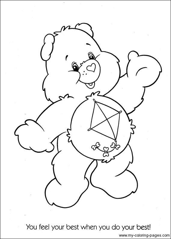 best care bear coloring pages - photo#11