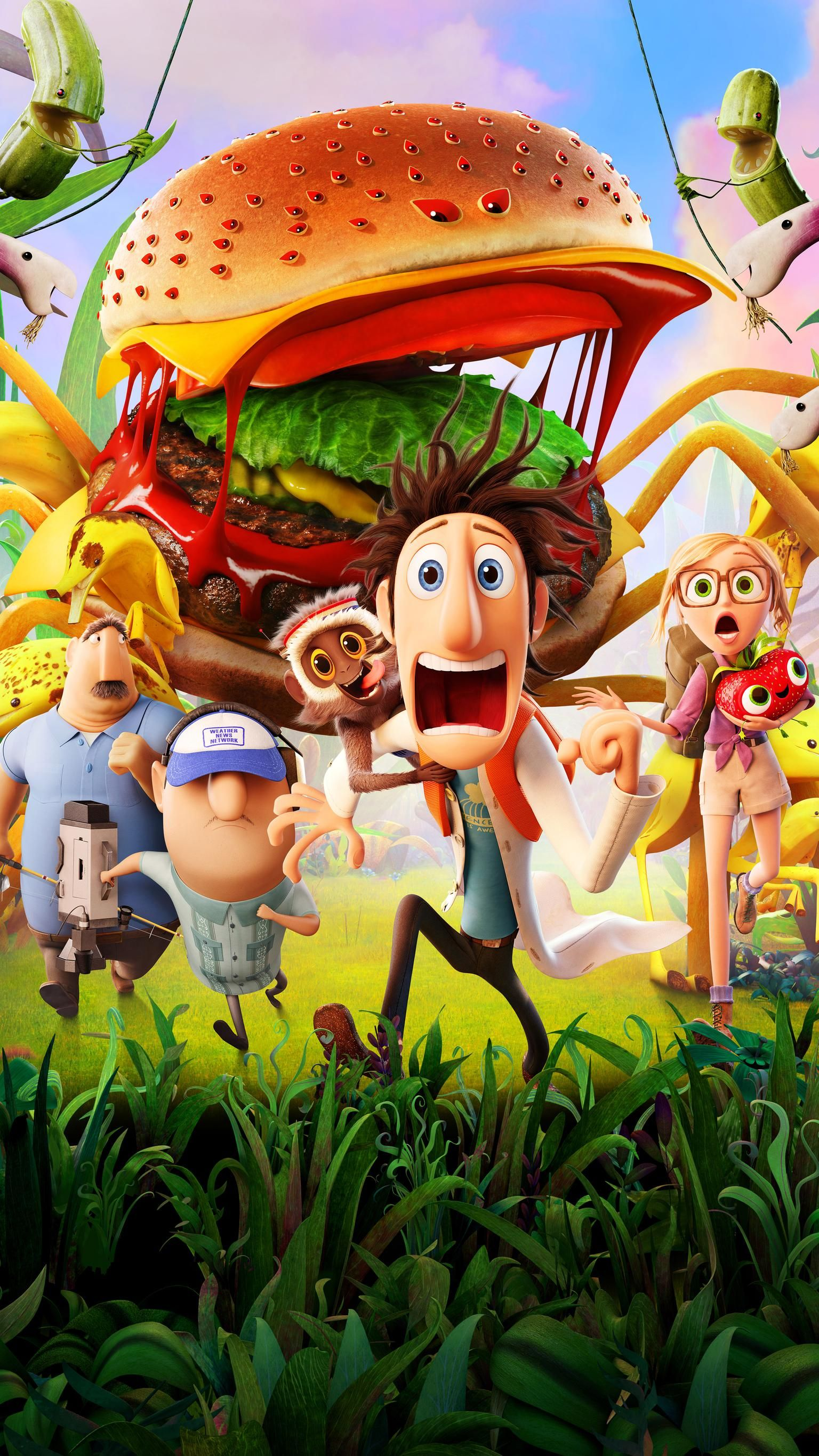 Cloudy With A Chance Of Meatballs 2 2013 Phone Wallpaper Moviemania Animated Movies For Kids Cartoon Wallpaper Animated Movies