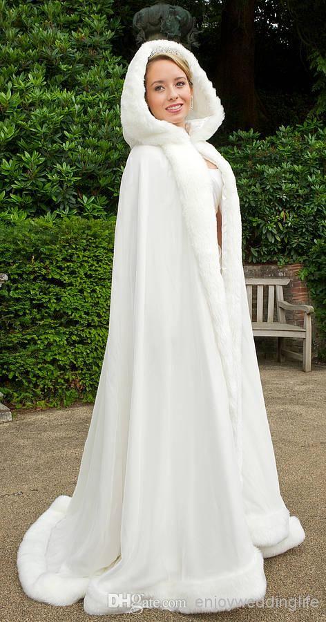 Bridal Cape Dress Winter