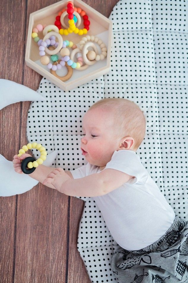 Pastel Charcoal Silicone Teething Toy, Safety Certified ...