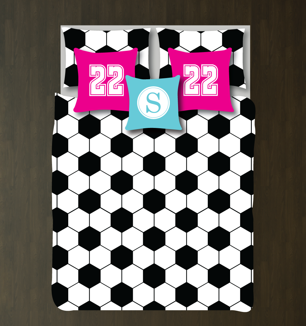 Soccer Decorations For Bedroom This Hexagon Soccer Ball Themed Duvet Cover Is Perfect For You