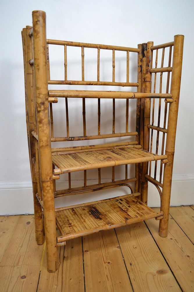 Vintage Antique 1930 S Art Deco Bamboo Bookcase Book Case