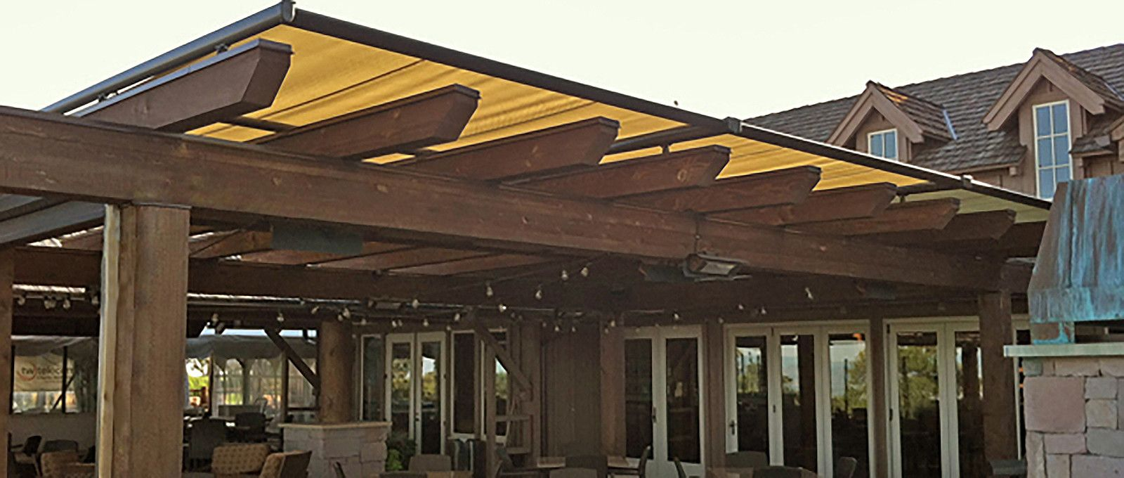 Pinnacle Structure Awning Over Pergola From Innovative Openings In  Louisville, CO. 303 665